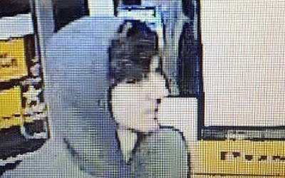 This surveillance photo released via Twitter on Friday by the Boston Police Department shows Dzhokhar A. Tsarnaev, the alleged Boston Marathon bomber (photo credit: AP/Boston Police Department)