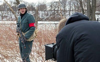 Filming in the woods opposite Harvard for 'Wallace Seeks Solace.' (photo credit: courtesy)