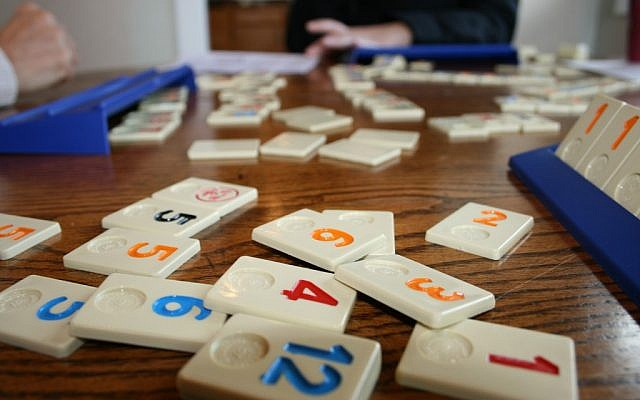 Tiles of Rummikub, a game invented by Ephraim Hartzano in Israel in the 1940s. (photo credit: Ryan Harvey/CC/via JTA)