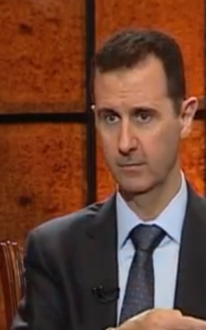 Syrian President Bashar Assad speaks to Turkish TV station Ulusal Kanal on April 2, 2013. (photo credit: image capture from YouTube video uploaded by SyrianPresidency)