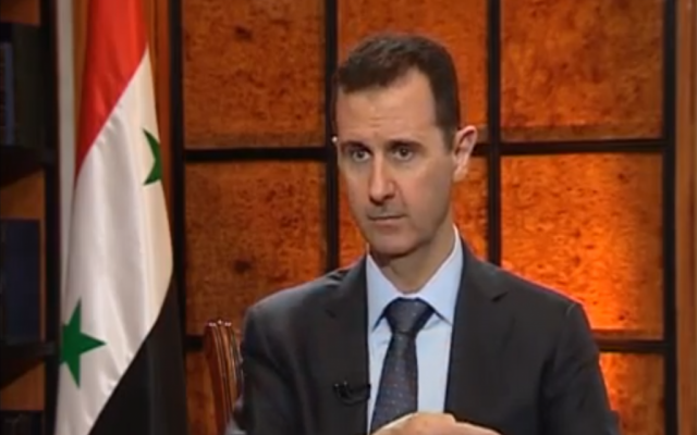 Syrian President Bashar Assad speaks to Turkish TV station Ulusal Kanal on April 2, 2013. (photo credit: image capture from YouTube video uploaded by SyrianPresidency)