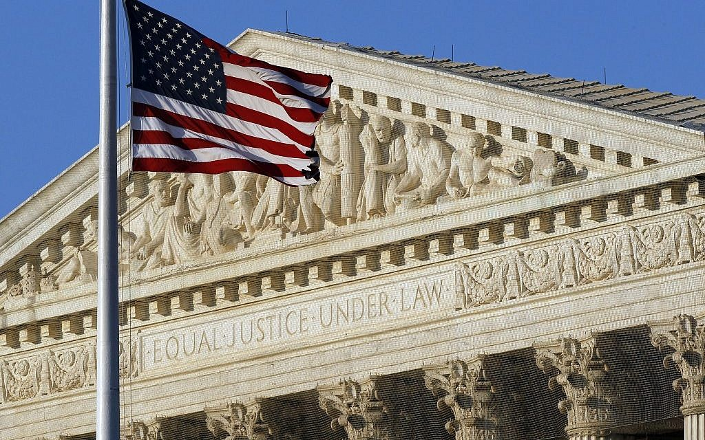 The US Supreme Court. Christian prayer in public proceedings is OK. (photo credit: AP Photo/Alex Brandon, File)