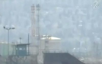 Haifa's ammonia tank (screen capture/Channel 2)