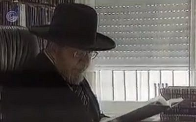 Rabbi Shlomo Shalush (photo credit: screen capture Channel1/YouTube)