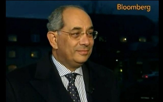 Yousef Boutros-Ghali (photo credit: screen capture Bloomberg/Youtube)