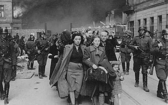 Nazi liquidation of the Warsaw Ghetto. (Courtesy of USHMM)