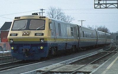 Illustrative photo of a Via Rail (Canada) train (photo credit: CC BY-SA by Randy Plunkett, Wikimedia Commons)