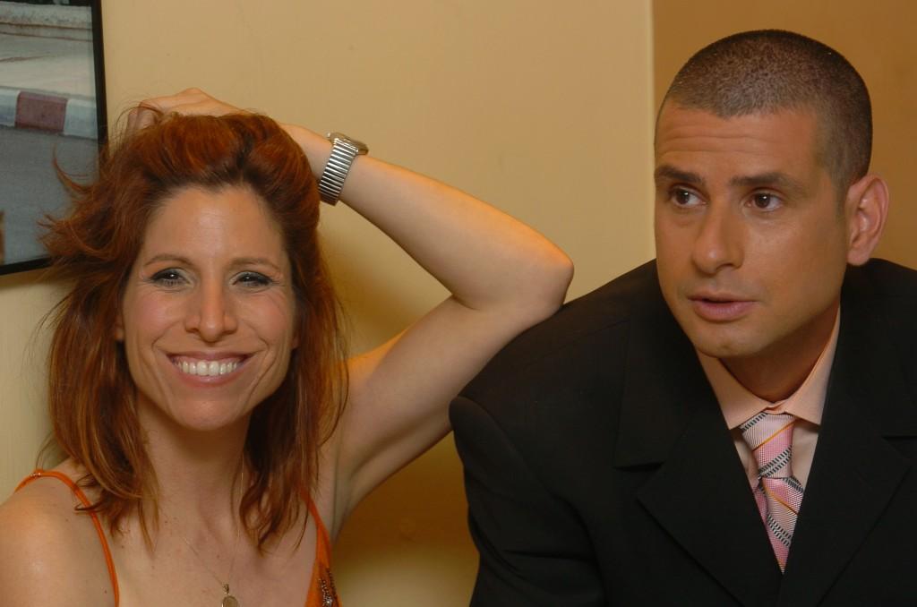 Orna Banai (left) and Eyal Kitzis of 'Eretz Nehederet.' (photo credit: Flash90/file)