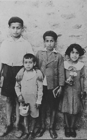 Isaac Shushan, left, at 13. Aleppo, Syria, 1937 (Courtesy of Isaac Shushan)