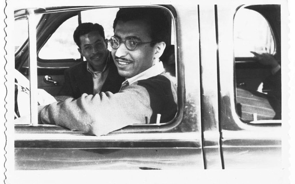 Isaac Shushan (foreground) and Havakuk Cohen in Lebanon, around 1949 (Courtesy of Isaac Shushan)
