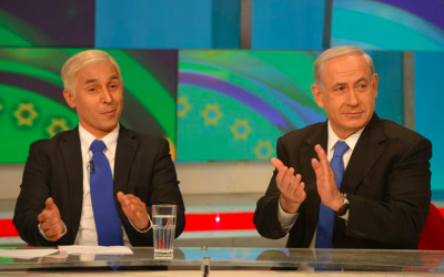 Bibi and Bibi on 'Eretz Nehederet', in honor of Israel's 65th (Courtesy 'Eretz Nehederet' Facebook page)