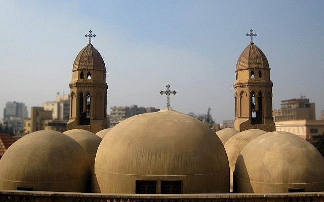 Illustrative: The domes of the Coptic Saint Mark's Church in Cairo, Egypt (photo credit: CC BY Bakar_88, Flickr)