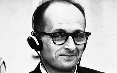 Adolf Eichmann on trial in Jerusalem, 1961 (AP, File)