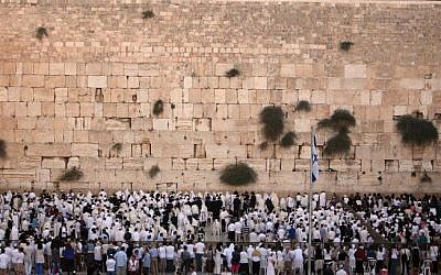 The Western Wall (photo credit: Sliman Khader/Flash90)