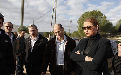 Tzipi Livni visits the West Bank settelment of Gvaot in Gush Etzion, December 19 (photo credit: Lior Mizrahi/Flash90)