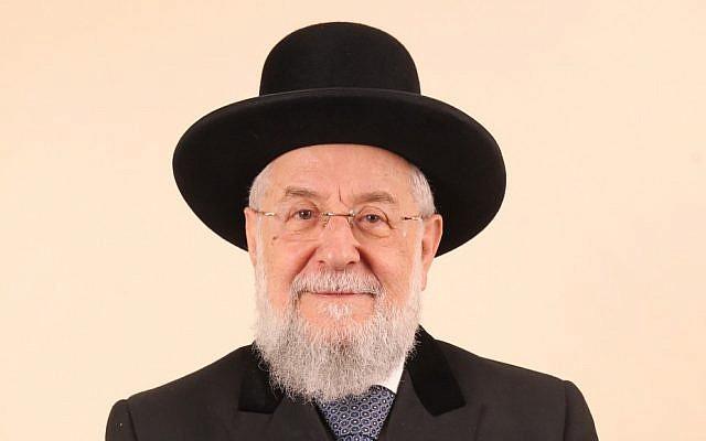 Rabbi Yisrael Meir Lau (photo credit: Flash90)
