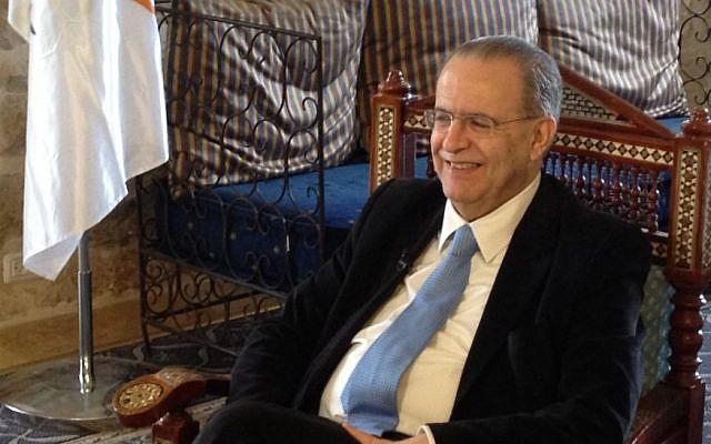 Cypriot Foreign Minister Ioannis Kasoulides in Jerusalem, April 9, 2013 (photo credit: Raphael Ahren/TOI)