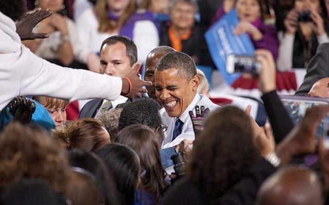US President Barack Obama smiles during a campaign stop in Las Vegas, Nevada, November 2012 (Obama image vis Shutterstock)