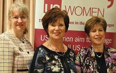 Judy Heicklen, Michele Vogel and  Doreen Samuels, panelists at the US Women event. photo credit: (courtesy)