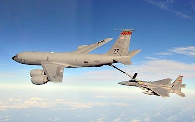 KC-135 refuelling Stratotanker, photographed in 2010 (photo credit: U.S. Air Force photo/Tech. Sgt. Angelique Perez)
