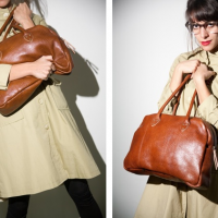 A leather satchel by Shira Wise (Courtesy Shira Wise)