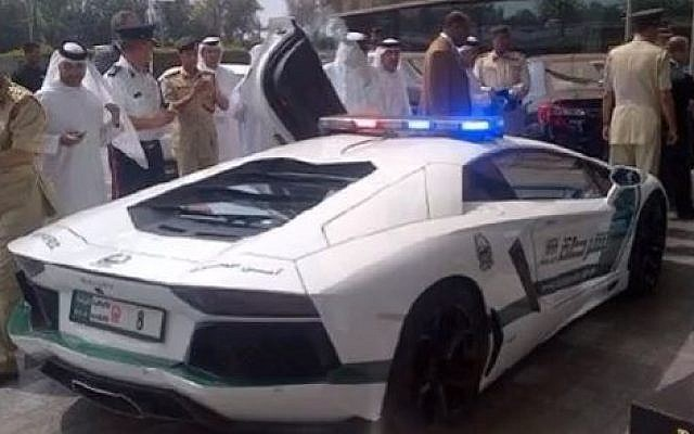 The Dubai police's $550,000 Lamborghini Aventador (photo credit: screen capture YouTube)