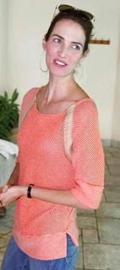 Tamar Primak's citrusy spring sweater (Courtesy Tamar Primak)
