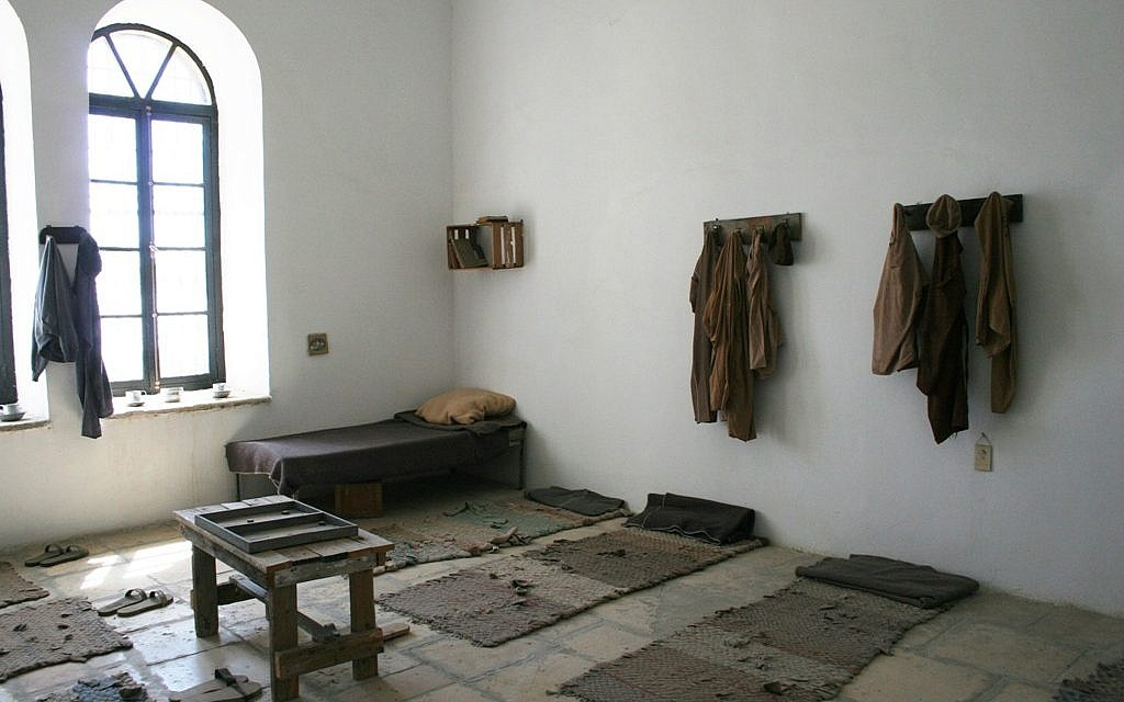 The reconstructed Room 34 at the Underground Prisoners' Museum in Jerusalem (photo credit: Shmuel Bar-Am)