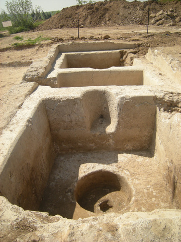 Part of an extensive winepress unearthed at the site (photo credit: Courtesy of the Israel Antiquities Authority)