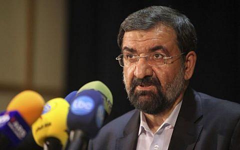 Former chief of Iran's Revolutionary Guard, Mohsen Rezaei. (photo credit: AP Photo/Vahid Salemi)