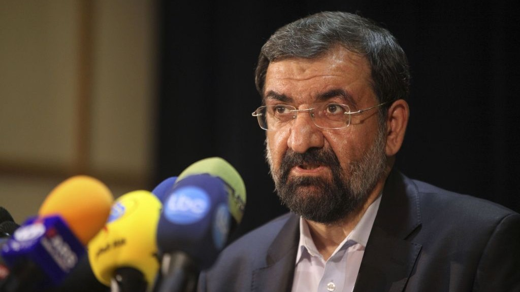 Former chief of Iran's Revolutionary Guard, Mohsen Rezaei (photo credit: AP Photo/Vahid Salemi)