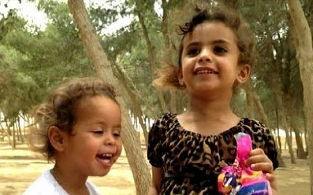 Bedouin sisters Asinad, 5 and Rimas, 2  were found dead in their beds in May 2013. The main suspect in the murders, their father, evaded police for over a month before being captured. (screen capture: Channel 10)