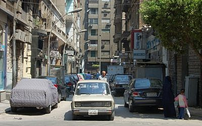 Street scene in downtown Cairo (photo credit: CC BY SA David Evers/Flickr)