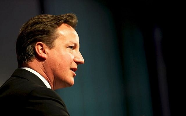 British Prime Minister David Cameron (photo credit: UK Department for International Development/Flickr)