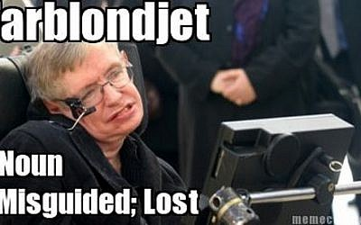 Stephen Hawking, in Yiddish