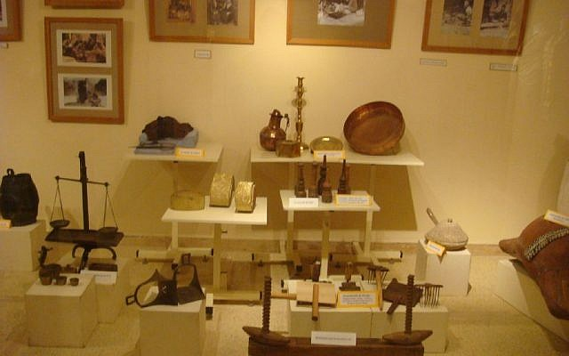 Jewish artifacts in a Casablanca museum. (photo credit: CC BY dlisbona, Flickr)