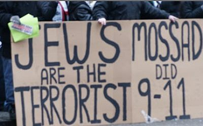 Some conspiracy theorists blame Jews and Israel for the September 11 terror attacks. (photo credit: Courtesy ADL)