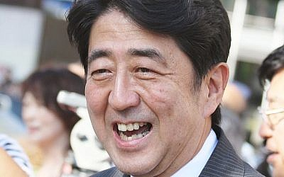 Japan's Prime Minister Shinzo Abe (photo credit: TTTNIS/Wikimedia Commons)