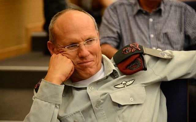 Maj. Gen. Nitzan Alon, head of the IDF Central Command, in Tel Aviv, May 13, 2013 (Yossi Zeliger/Flash90)