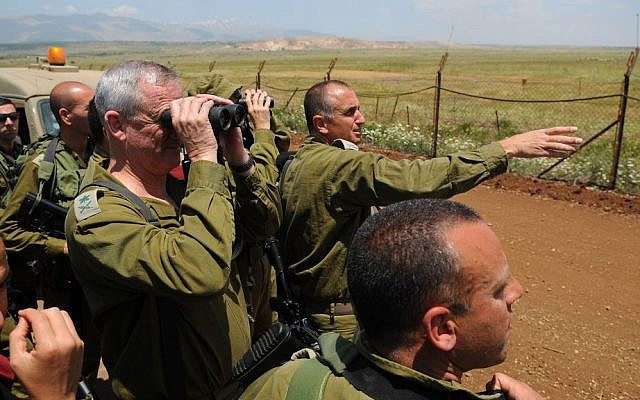 Israel's Chief of Staff Lt.-Gen. Benny Gantz looks across Israel's border with Syria, in May. (photo credit: IDF Spokesperson)