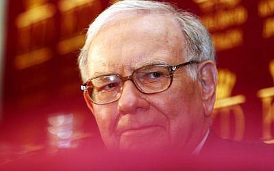 Warren Buffett in Jerusalem in 2006. (hoto credit: Orel Cohen/Flash90)