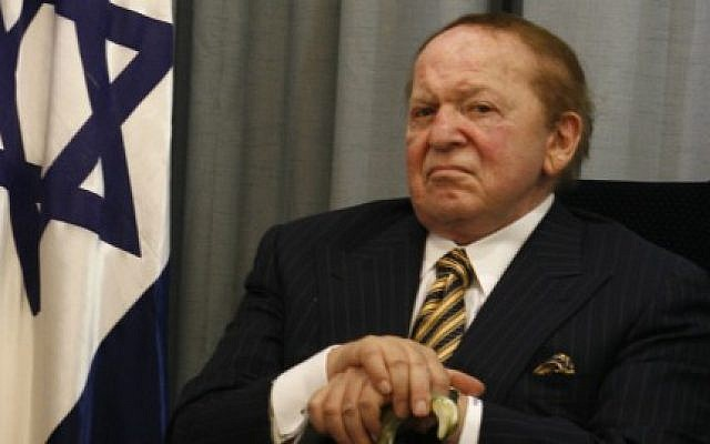 US billionaire businessman Sheldon Adelson, in Jerusalem, 12 August 2007. photo credit: Flash90)