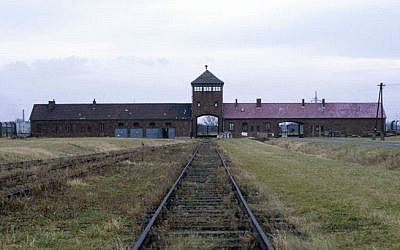 Railway tracks leading to the Auschwitz-Birkenau extermination camp in Poland. (photo credit: Serge Attal/Flash90)