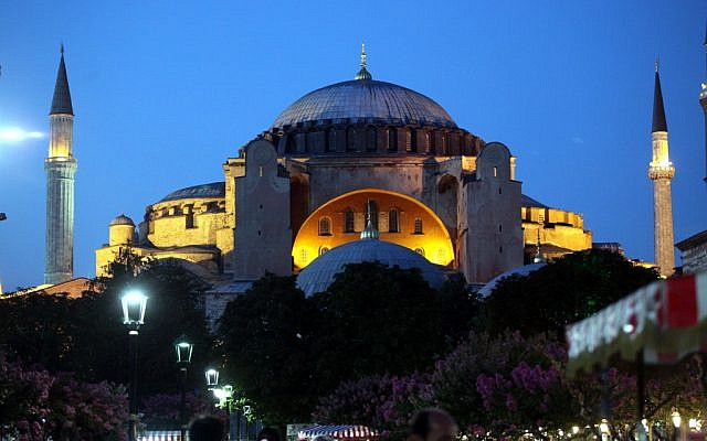 The Ayasofya, or Hagia Sophia, museum in Istanbul, one of the most famous landmarks in the city and a former mosque and Byzantine church. (photo credit: Yossi Zamir/Flash 90)