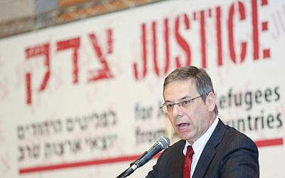 Will his testimony convict his former boss? Danny Ayalon is expected to testify in the trial of Avigdor Liberman on Thursday. In this picture, Ayalon is speaking at a 2012 conference about the rights of Jewish refugees from Arab countries (photo credit: Oren Nahshon / FLASH90)