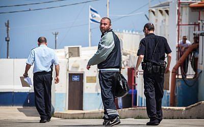 Simon Sa'adati seen on the Israeli side of the Israeli/Lebanon border, on May 5, 2013. (photo credit: Avishag Shaar Yashuv/Flash90)