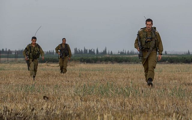 Israeli infantry soldiers training in the Golan Heights earlier this month. (photo credit: Flash90)