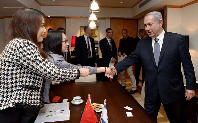 Prime Minister Benjamin Netanyahu gives an interview to a Chinese newspaper in Shanghai, May 7, 2013. (photo credit: Avi Ohayon/GPO/Flash90)