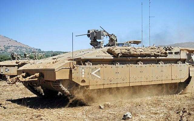 The Namer armored personnel carrier (photo credit: CC BY-SA Abir Sultan, Flickr)