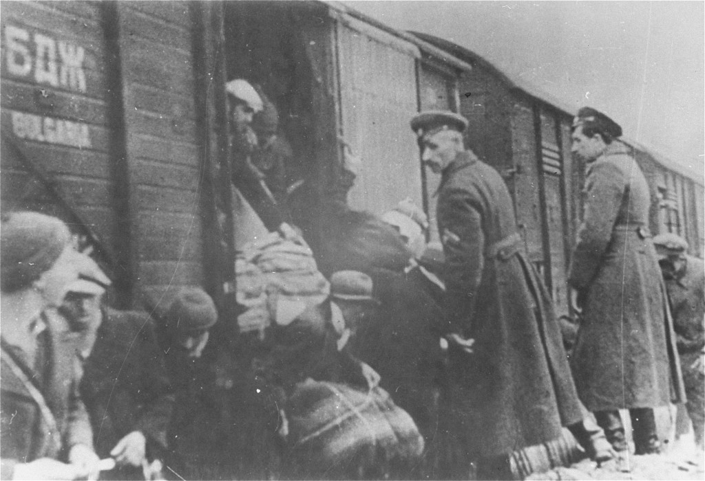 This Image Provided By The US Holocaust Memorial Museum Shows Bulgarian Policemen Overseeing Deportation Of